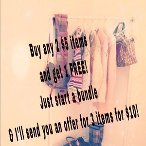 Other - Buy two $5 items and get the third FREE!!